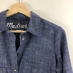 Madewell Blue Chambray Button Down